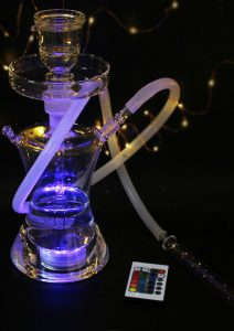 glass led hookah